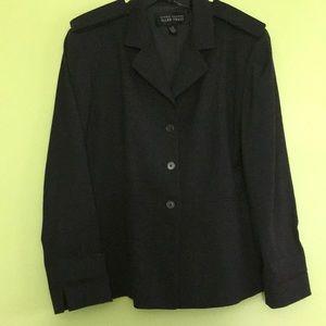 Ellen Tracy charcoal grey blazer